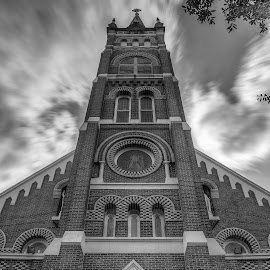 Foreboding by Kelley Hurwitz Ahr - Buildings & Architecture Places of Worship ( church, texas, churches, october 2014 )