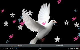 Screenshot of Dove of Peace Live Wallpaper
