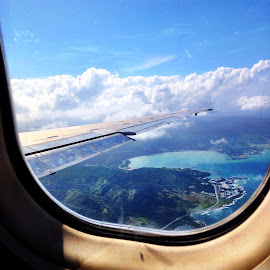 Flying into Paradise by Theresa Schiferl - Landscapes Travel ( #montegobay, #jamaica )