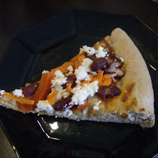 Pizza With Kidney Beans and Feta
