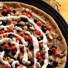 Peanutty Halloween Cookie Pizza