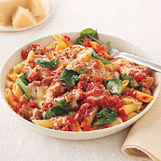 Penne with Spinach and Sausage
