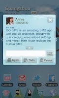 Screenshot of GO SMS Pro Light Blue theme