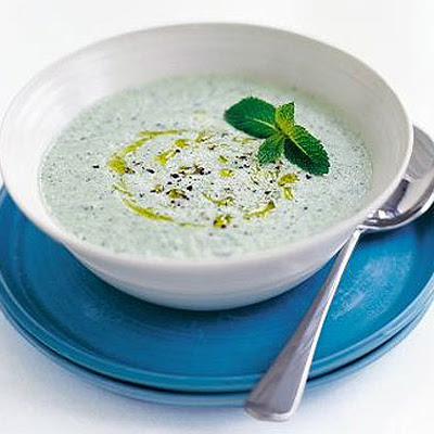 Fragrant Cucumber & Yogurt Soup