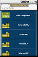 Screenshot of CLRadio