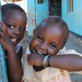 Africa girls by Cyndi Rosenthal - Babies & Children Children Candids