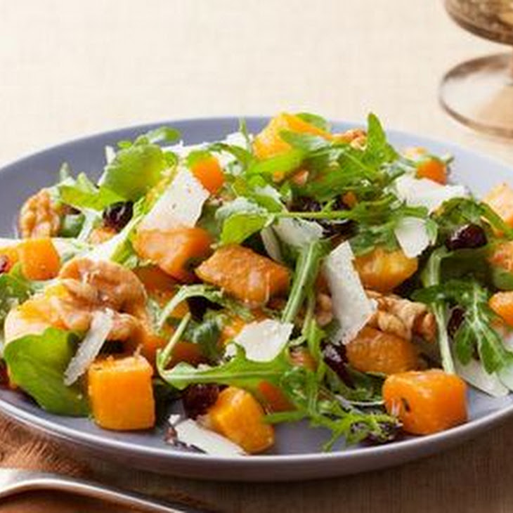 Roasted Butternut Squash Salad with Warm Cider Vinaigrette Recipe ...