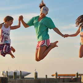 The Real Triple Jump by Brian Killough - People Family ( pier, summer, beach, kids, deal island, jump )