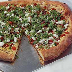 White Bean, Tomato and Goat-Cheese Pizza