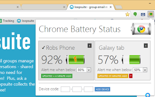 App Chrome Battery Status version 2015 APK