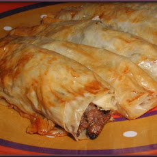 Bourek (Meat Filled Pastry)