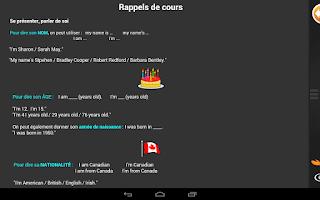 Screenshot of iTooch Anglais 6ème