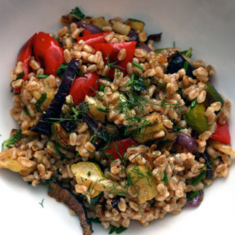 Italian Farro Salad with Roasted Vegetables