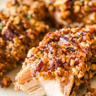 Baked Pecan Crusted Chicken Fingers