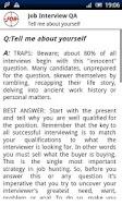 Screenshot of Job Interview Q&A