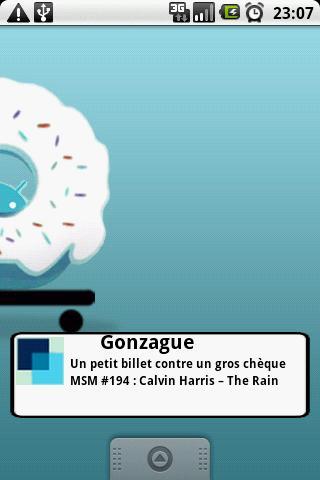 Widget du site Gonzague