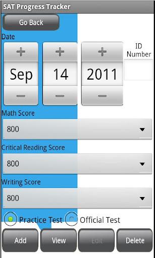 SAT Progress Tracker