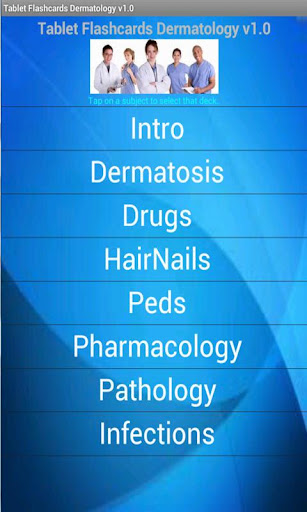 Tablet Flashcards Dermatology