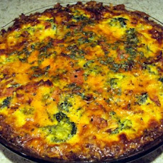 Vegetarian Quiche With Potato Crust