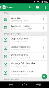 App Google Sheets APK for Windows Phone