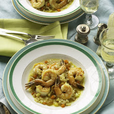 Shrimp in Saffron Broth