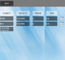 Screenshot of UCD GPA CALCULATOR