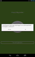 Screenshot of Food Reporter ancienne version