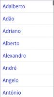 Screenshot of Significado dos Nomes