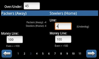 Screenshot of NFL Betting Genius Lite