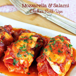 Mozzarella and Salami Chicken Roll-Ups