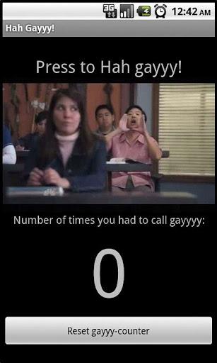 Hah Gayyy Button