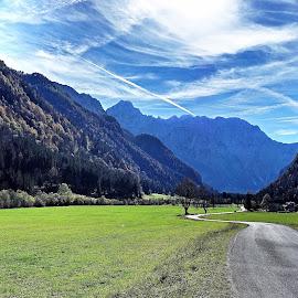 Logarska dolina, Slovenia by Bernarda Bizjak - Landscapes Prairies, Meadows & Fields ( nature, landscape, valey )