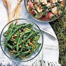 Green Bean, Hazelnut, and Mint Salad with Lemon Dressing