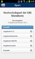 Screenshot of Universität Mannheim