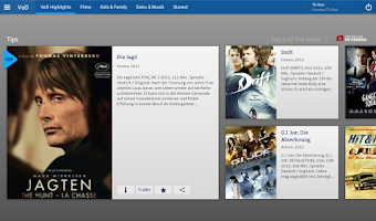 Screenshot of Swisscom TV