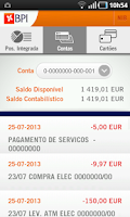 Screenshot of BPI APP