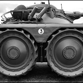 Nr.3 by Etienne Chalmet - Transportation Other ( 3, black and white, wheels, tank, military )