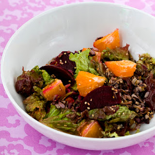 Wild Rice Salad With Oranges & Roasted Beets
