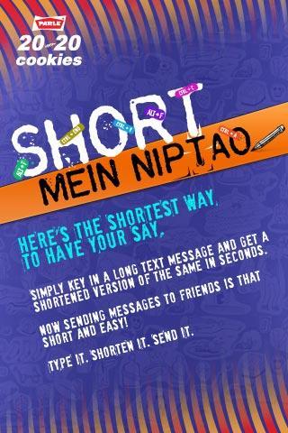 Parle 20-20 Short Mein Niptao