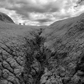 A Walk on the Moon by Bogdan Balas - Landscapes Deserts ( moon, dry, sterile, landscape, berca, mud volcanoes )