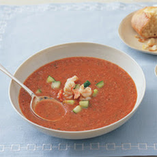 Chilled Tomato Soup with Shrimp