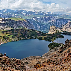 Near Beartooth Pass by Jim Czech - Landscapes Mountains & Hills ( mountains, cliffs, mountain pass, mountain lake, wyoming, beartooth mountains, lake, rocks, pass,  )