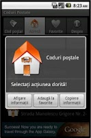Screenshot of Coduri Postale