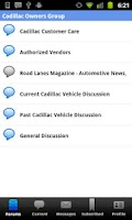 Screenshot of Cadillac Forums