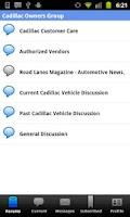 Screenshot of Cadillac Forums