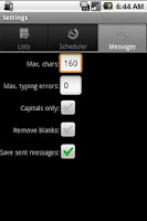 Screenshot of SMS Creator