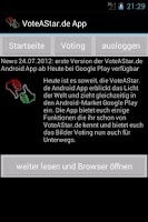 Screenshot of VoteAStar Foto Voting Free