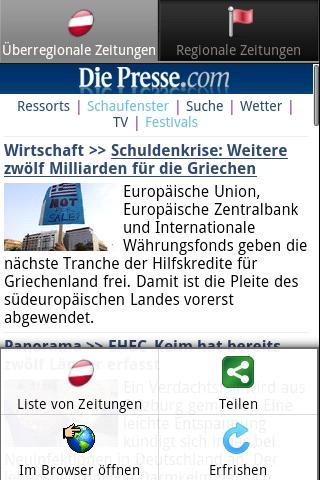Zeitungen AT frei Österreich