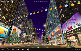 Screenshot of City Live Wallpaper - blossom