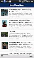 Screenshot of Blue Mars News